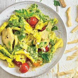 Garganelli mit Artischockencreme und Tomaten