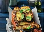 Tomatensoße und Ricotta schichten mit, Parmesan oben drüber – Mittelmeerfeeling!