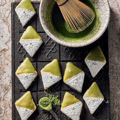 Matcha-Butterplätzchen
