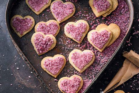 Himbeer-Kokos-Herzen