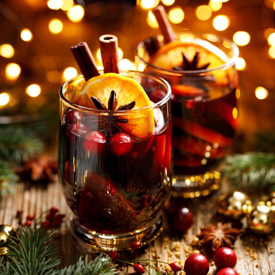 Glühwein mit Cranberries