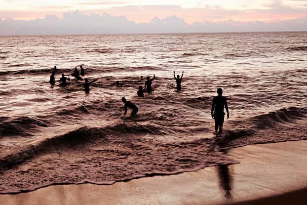 Sri Lanka Ostküste Sonnenuntergang