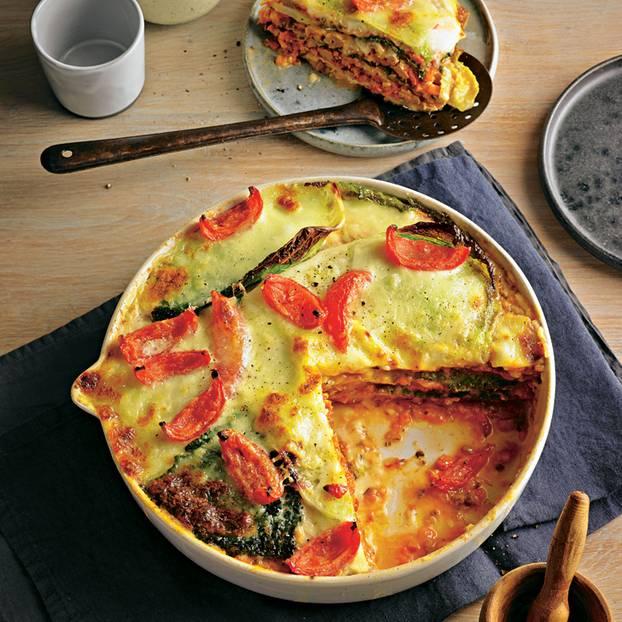 Wirsing-Lasagne mit Hirschragout