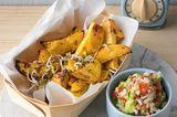 Steckrüben-Wedges mit Guacamole