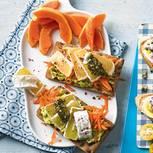 Käseknäcke mit Avocado