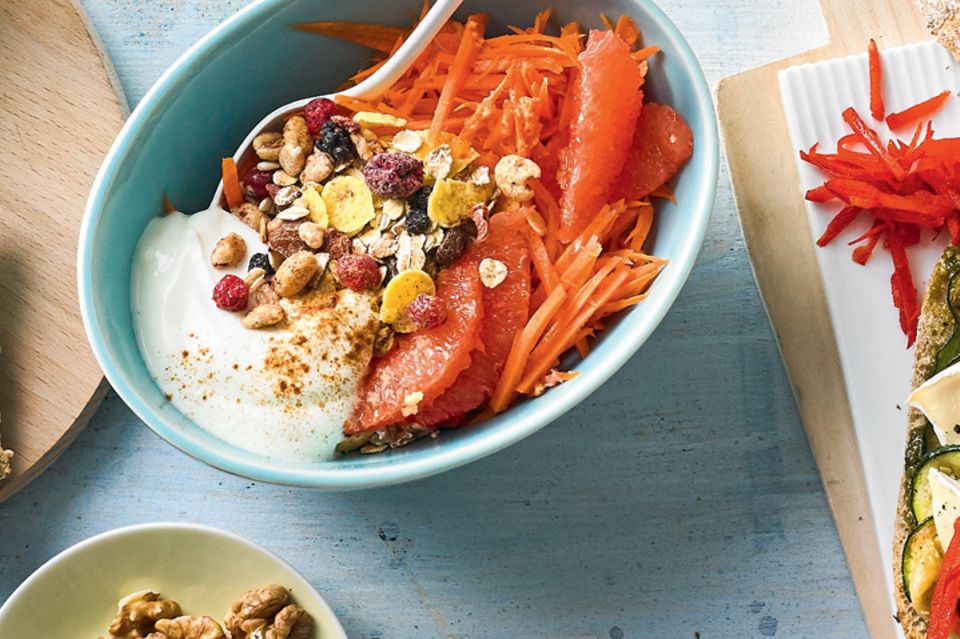 Karotten-Streifen, Müsli