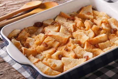 Das englische Dessert Bread-and-Butter-Pudding