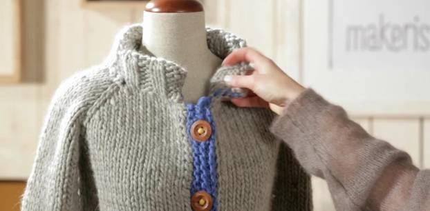 Anleitungen für einen Raglan von oben Pullover