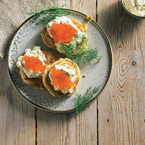 Blinis mit Kaviar