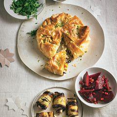 Kürbis-Tarte mit Schafskäse