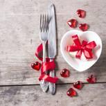 Valentinstag-Menü für zwei