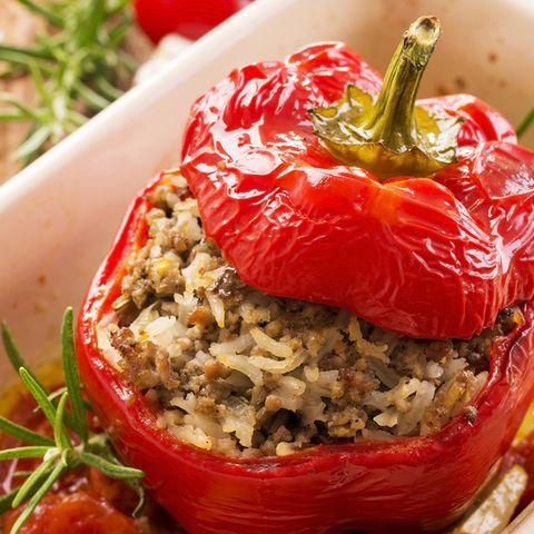 gefüllte paprika mit hackfleisch abnehmen