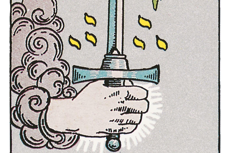 Tarotkarte Ass der Schwerter