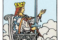 Tarotkarte Die Königin der Schwerter