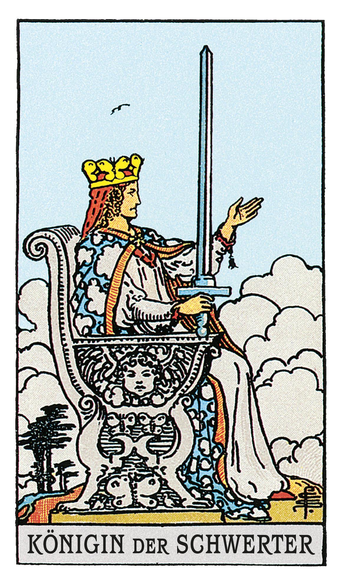Die Königin Der Schwerter Deine Tarotkarte Brigittede