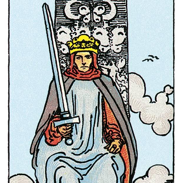 Der König Der Schwerter Deine Tarotkarte Brigittede