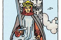 Tarotkarte Der König der Schwerter