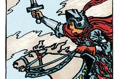 Tarotkarte Der Ritter der Schwerter