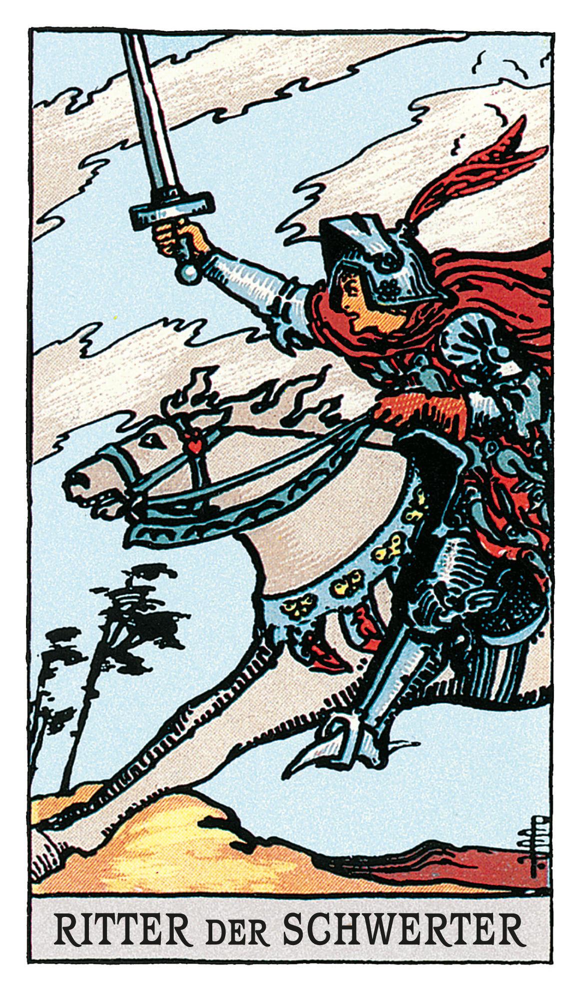 Der Ritter Der Schwerter Deine Tarotkarte Brigittede