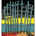 Tarotkarte Zehn der Schwerter