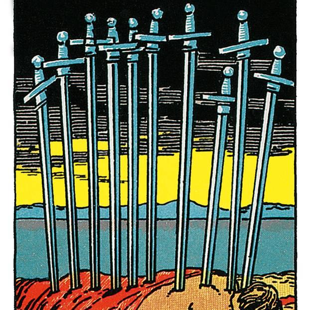 Zehn Der Schwerter Deine Tarotkarte Brigittede