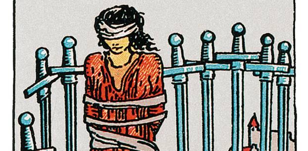 Tarotkarte Acht der Schwerter