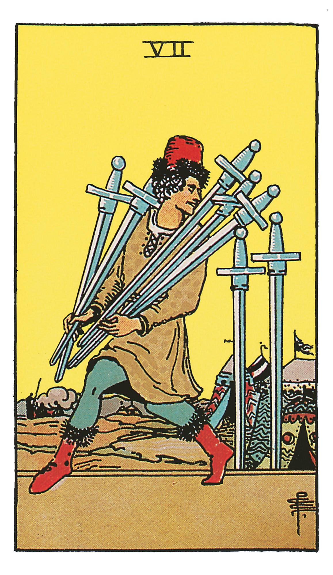 Sieben Der Schwerter Deine Tarotkarte Brigittede