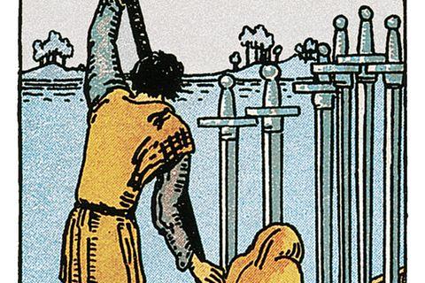 Tarotkarte Sechs der Schwerter
