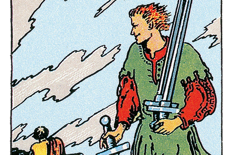 Tarotkarte Fünf der Schwerter
