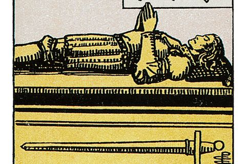 Tarotkarte Vier der Schwerter