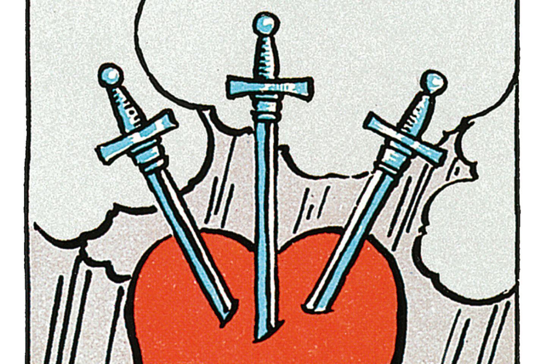 Tarotkarte Drei der Schwerter
