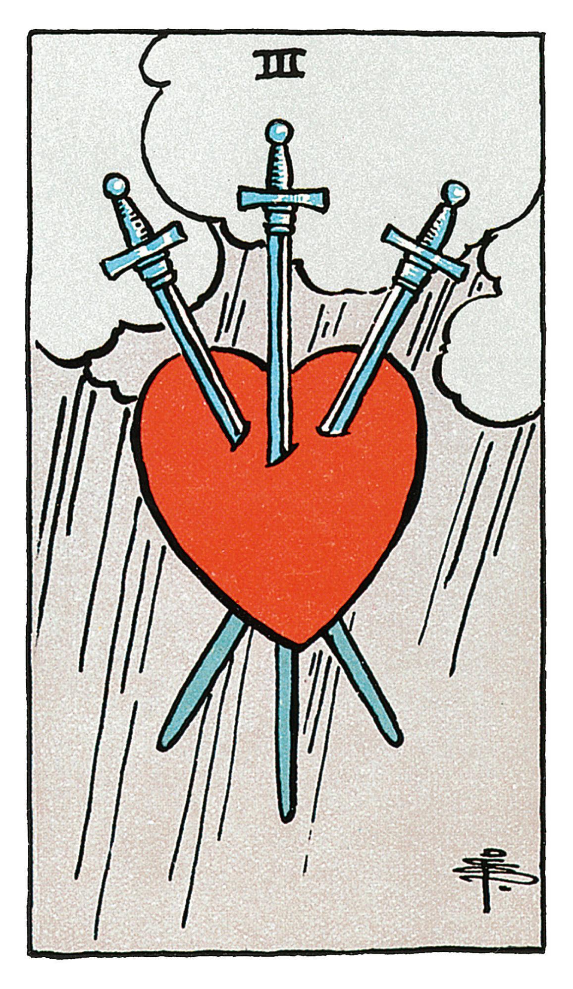 Drei Der Schwerter Deine Tarotkarte Brigittede