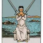 Tarotkarte Zwei der Schwerter