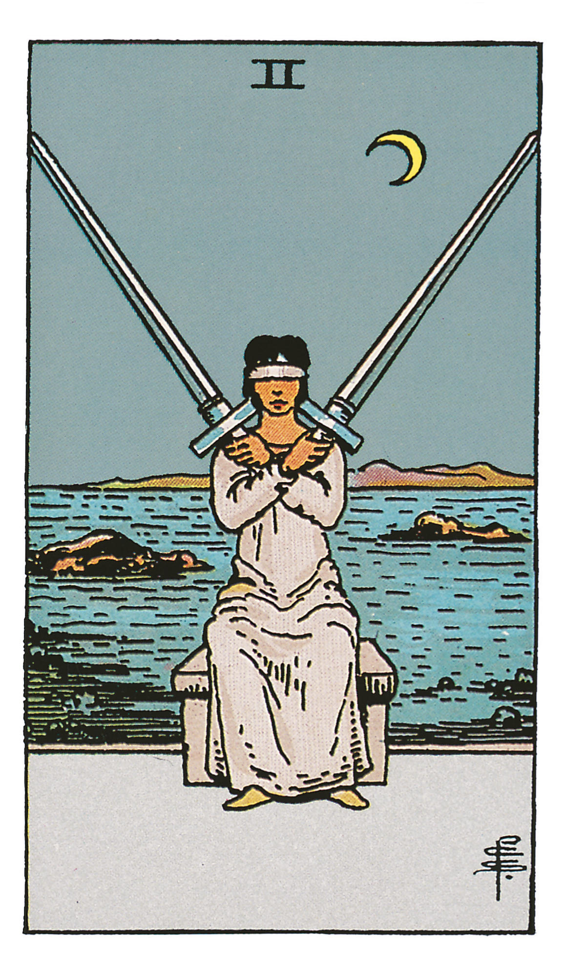 Zwei der Schwerter - deine Tarotkarte   BRIGITTE.de