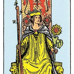 Tarotkarte Die Königin der Stäbe
