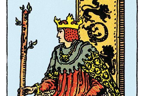 Tarotkarte Der König der Stäbe