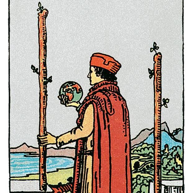 Zwei Der Stäbe Deine Tarotkarte Brigittede