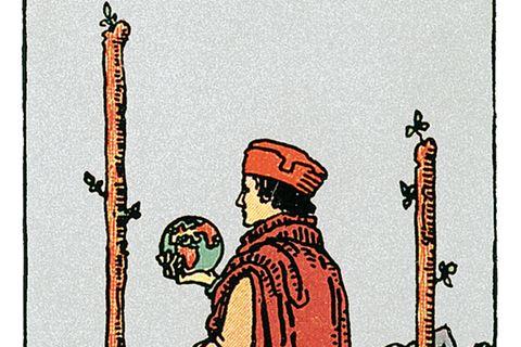 Tarotkarte Zwei der Stäbe
