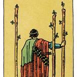 Tarotkarte Drei der Stäbe