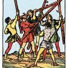 Tarotkarte Fünf der Stäbe