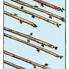 Tarotkarte Acht der Stäbe
