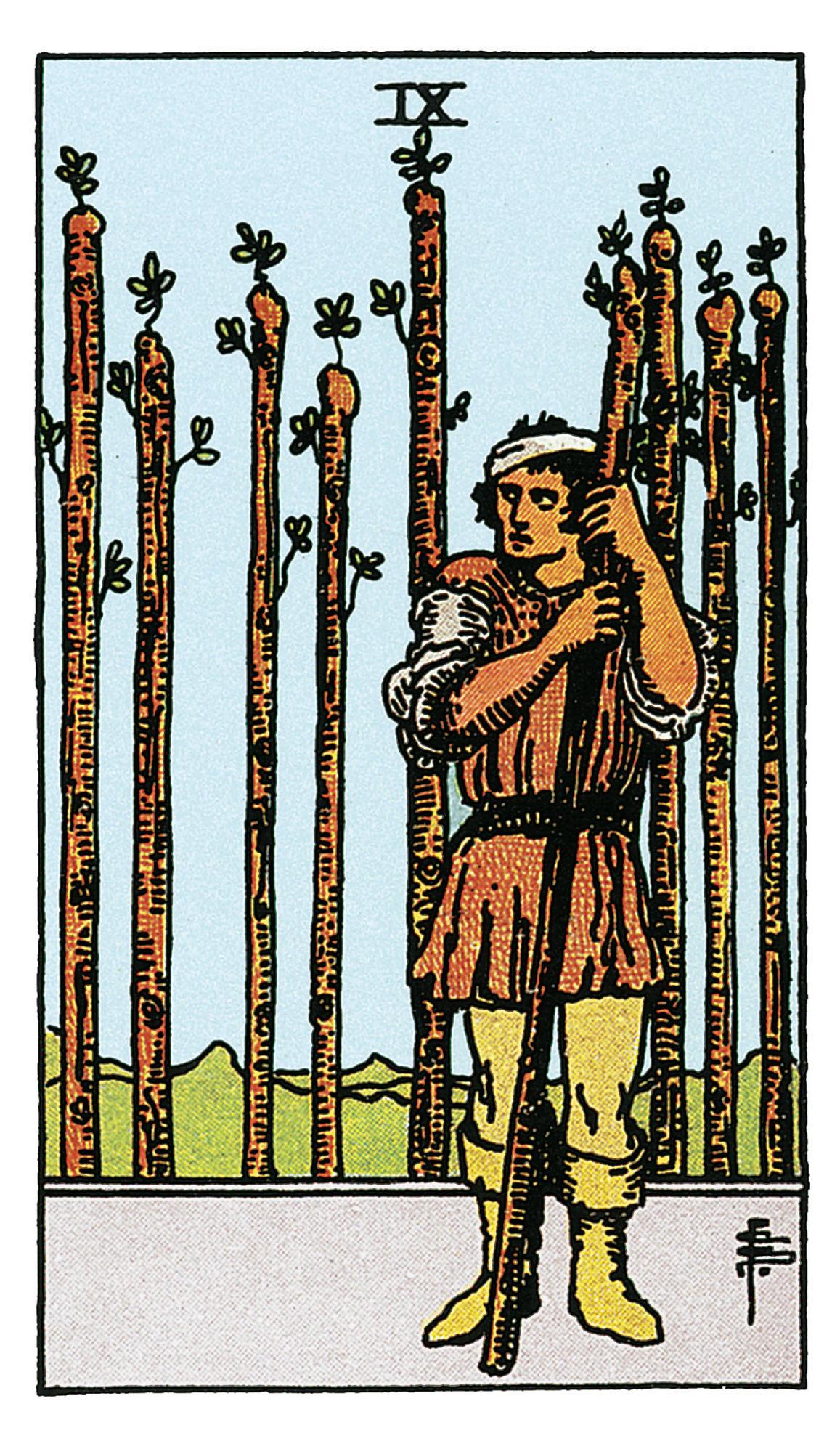 Neun Der Stäbe Deine Tarotkarte Brigittede