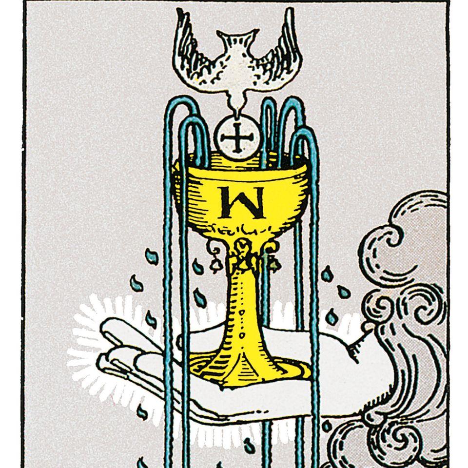 Tarotkarte Ass der Kelche