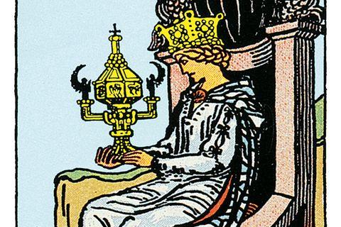 Tarotkarte Königin der Kelche