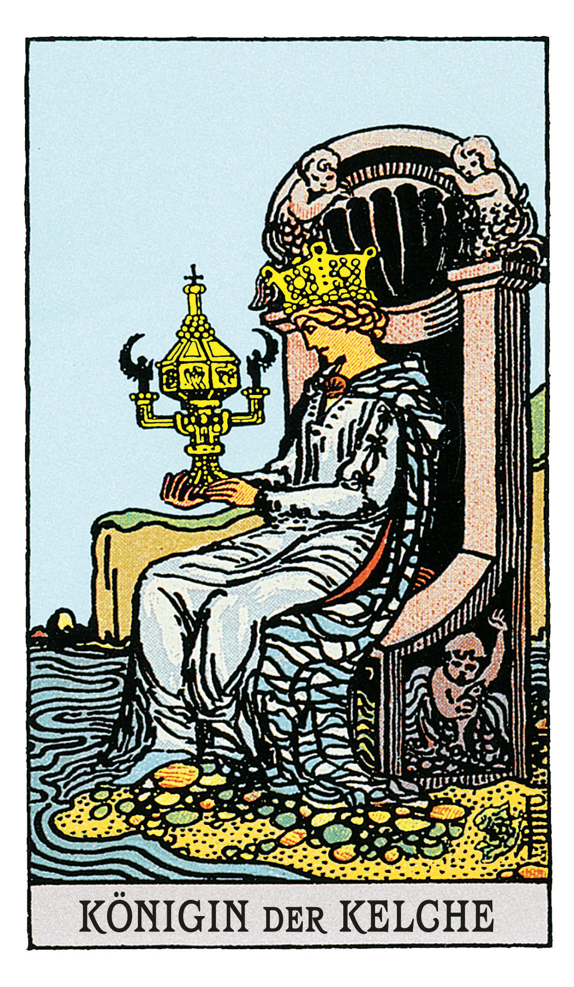 Die Königin Der Kelche Deine Tarotkarte Brigittede
