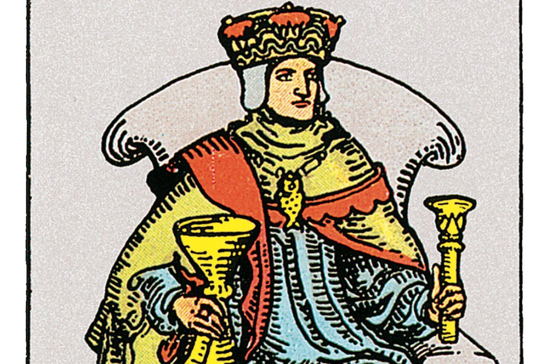Tarotkarte der König der Kelche
