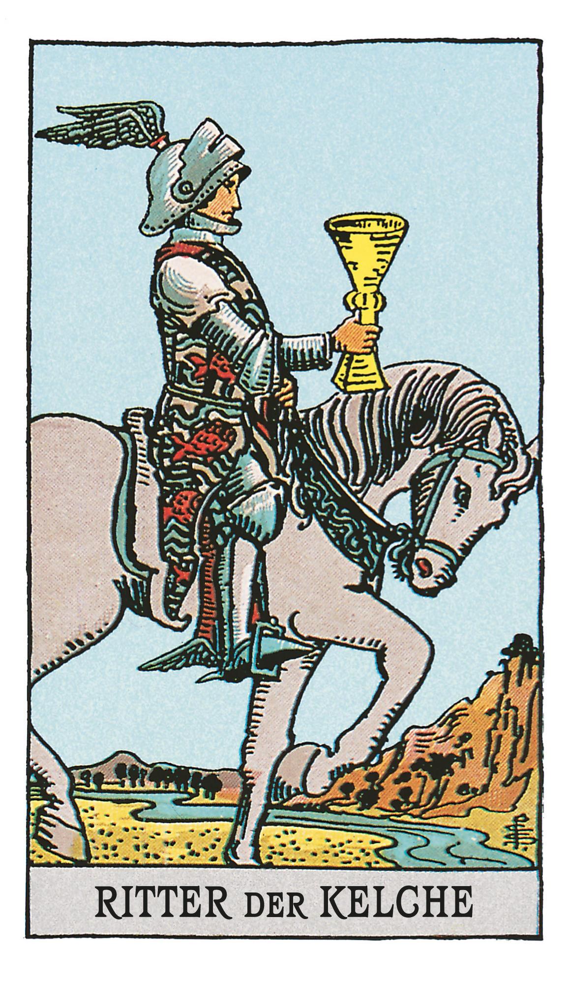Der Ritter Der Kelche Deine Tarotkarte Brigittede