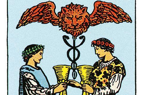 Tarotkarte Zwei der Kelche
