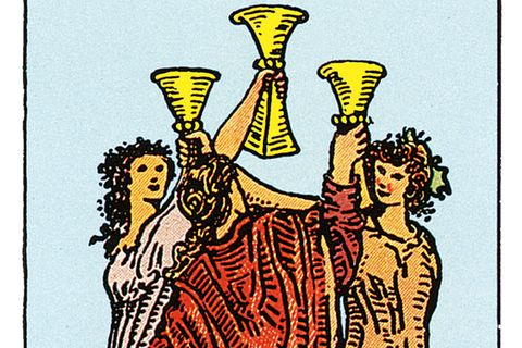 Tarotkarte Drei der Kelche