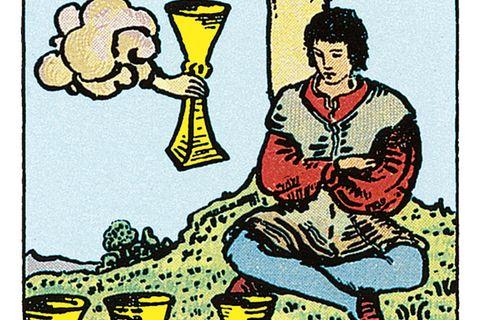 Tarotkarte Vier der Kelche